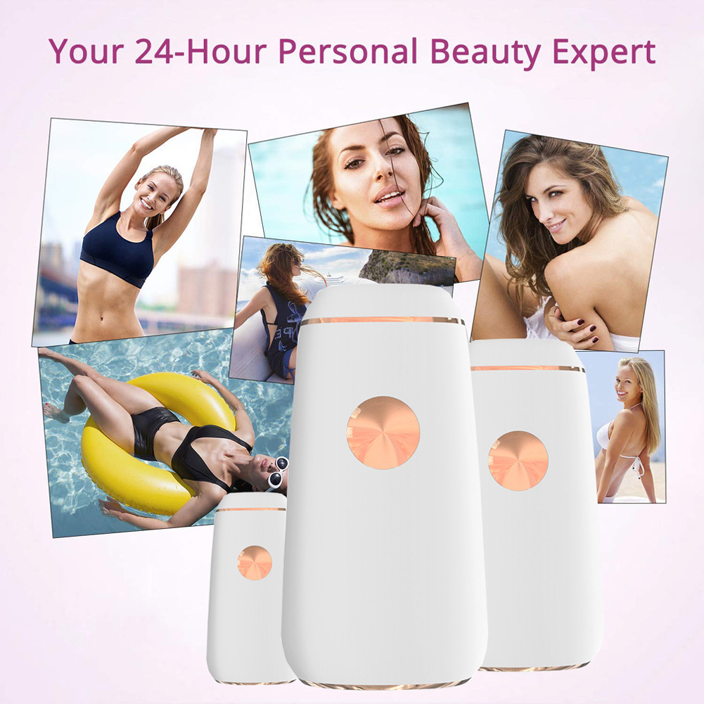 CNV Permanent Hair Removal For Women & Men - Body & Facial IPL Hair Removal System 500,000 Flashes